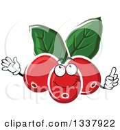 Clipart Of A Cartoon Coffee Berries Character Royalty Free Vector Illustration