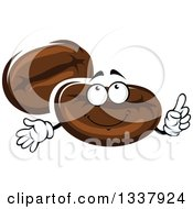 Clipart Of A Cartoon Coffee Beans Character Royalty Free Vector Illustration