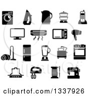 Clipart Of Black And White Household Items Royalty Free Vector Illustration
