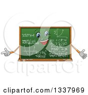 Clipart Of A Cartoon Chalkboard Character With Math Formulas Royalty Free Vector Illustration by Vector Tradition SM