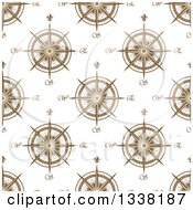 Clipart Of A Seamless Patterned Background Of Compasses 5 Royalty Free Vector Illustration by Vector Tradition SM