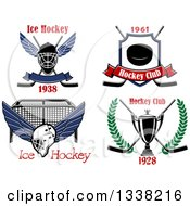 Ice Hockey Designs With Text
