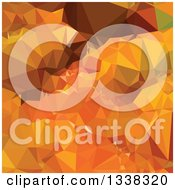 Clipart Of A Low Poly Abstract Geometric Background Of Harvest Gold Orange Royalty Free Vector Illustration