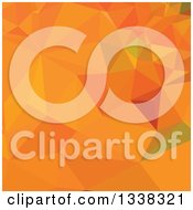 Clipart Of A Low Poly Abstract Geometric Background Of Pumpkin Orange Royalty Free Vector Illustration