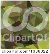 Clipart Of A Low Poly Abstract Geometric Background Of Pistachio Green Royalty Free Vector Illustration