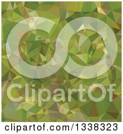 Clipart Of A Low Poly Abstract Geometric Background Of Sap Green Royalty Free Vector Illustration