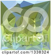 Clipart Of A Low Poly Abstract Geometric Background Of Limerick Green Royalty Free Vector Illustration