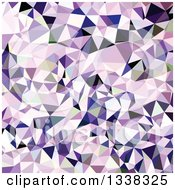 Clipart Of A Low Poly Abstract Geometric Background Of Blue Violet Royalty Free Vector Illustration