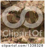 Clipart Of A Low Poly Abstract Geometric Background Of Copper Brown Royalty Free Vector Illustration