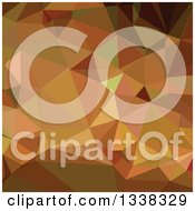 Clipart Of A Low Poly Abstract Geometric Background Of Cocoa Brown Royalty Free Vector Illustration