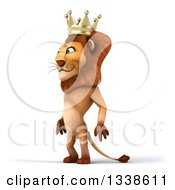 Clipart Of A 3d Male Lion King Facing Slightly Left Royalty Free Illustration by Julos