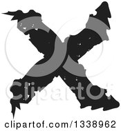 Clipart Of A Black Grungy Negation X Mark App Icon Design Element Royalty Free Vector Illustration by ColorMagic