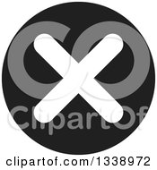 Clipart Of A White Negation X Mark On A Black Circle App Icon Design Element Royalty Free Vector Illustration by ColorMagic