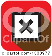 Clipart Of A White And Black Negation X Mark In A Black Circle On A Red Square App Icon Design Element Royalty Free Vector Illustration by ColorMagic