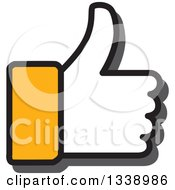 Clipart Of A Yellow Cuffed Thumb Up Like App Icon Design Element Royalty Free Vector Illustration by ColorMagic