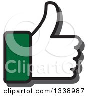 Clipart Of A Green Cuffed Thumb Up Like App Icon Design Element Royalty Free Vector Illustration by ColorMagic