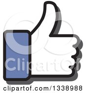 Clipart Of A Blue Cuffed Thumb Up Like App Icon Design Element Royalty Free Vector Illustration