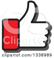 Clipart Of A Red Cuffed Thumb Up Like App Icon Design Element Royalty Free Vector Illustration by ColorMagic