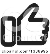Clipart Of A Black And White Thumb Up Like App Icon Design Element Royalty Free Vector Illustration by ColorMagic