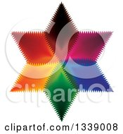 Clipart Of A Colorful Star 4 Royalty Free Vector Illustration by ColorMagic