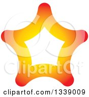 Clipart Of A Gradient Orange Star Royalty Free Vector Illustration by ColorMagic