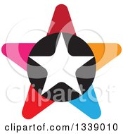 Clipart Of A Colorful Star 6 Royalty Free Vector Illustration by ColorMagic