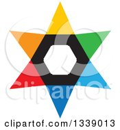 Clipart Of A Colorful Star 3 Royalty Free Vector Illustration by ColorMagic