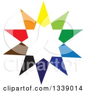 Clipart Of A Colorful Star Burst Royalty Free Vector Illustration