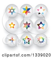 Clipart Of Colorful Star Round Shaded App Icon Design Elements 2 Royalty Free Vector Illustration by ColorMagic