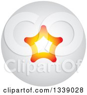 Clipart Of A Gradient Orange Star Round Shaded App Icon Design Element Royalty Free Vector Illustration by ColorMagic