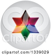 Clipart Of A Colorful Star Round Shaded App Icon Design Element 4 Royalty Free Vector Illustration by ColorMagic