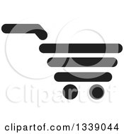 Clipart Of A Black Shopping Cart Retail Icon Royalty Free Vector Illustration