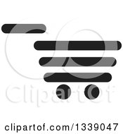 Clipart Of A Black Shopping Cart Retail Icon 2 Royalty Free Vector Illustration