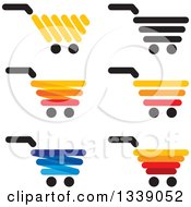 Clipart Of Shopping Cart Retail Icons Royalty Free Vector Illustration