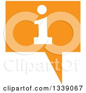 Clipart Of A Letter I Information And Orange Speech Balloon App Icon Design Element Royalty Free Vector Illustration by ColorMagic