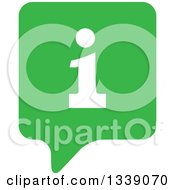 Clipart Of A Letter I Information And Green Speech Balloon App Icon Design Element 3 Royalty Free Vector Illustration by ColorMagic
