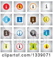 Clipart Of Colorful Letter I Information App Icon Design Elements Royalty Free Vector Illustration