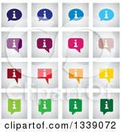 Clipart Of Colorful Letter I Information Speech Balloon App Icon Design Elements Royalty Free Vector Illustration