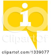 Clipart Of A Letter I Information And Yellow Speech Balloon App Icon Design Element Royalty Free Vector Illustration by ColorMagic
