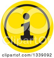 Clipart Of A Flat Design Black And Yellow Letter I Information App Icon Design Element Royalty Free Vector Illustration by ColorMagic