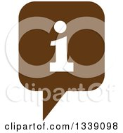 Clipart Of A Letter I Information And Brown Speech Balloon App Icon Design Element Royalty Free Vector Illustration