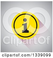 Clipart Of A Black And Yellow Letter I Information App Icon Design Element Over Shading Royalty Free Vector Illustration