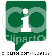 Clipart Of A Letter I Information And Green Speech Balloon App Icon Design Element 4 Royalty Free Vector Illustration