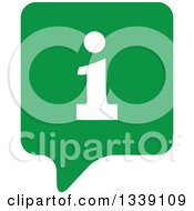 Clipart Of A Letter I Information And Green Speech Balloon App Icon Design Element Royalty Free Vector Illustration