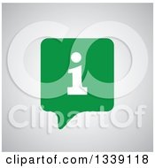 Clipart Of A Letter I Information And Green Speech Balloon App Icon Design Element Over Shading Royalty Free Vector Illustration