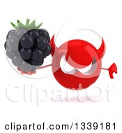 Clipart Of A 3d Red Devil Head Holding A Blackberry And Giving A Thumb Down Royalty Free Illustration