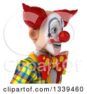 Clipart Of A 3d Funky Clown Avatar Facing Right Royalty Free Illustration