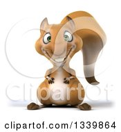 Clipart Of A 3d Happy Squirrel Royalty Free Illustration by Julos