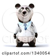 Clipart Of A 3d Doctor Or Veterinarian Panda Royalty Free Illustration
