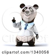Clipart Of A 3d Doctor Or Veterinarian Panda Holding Up A Finger Royalty Free Illustration